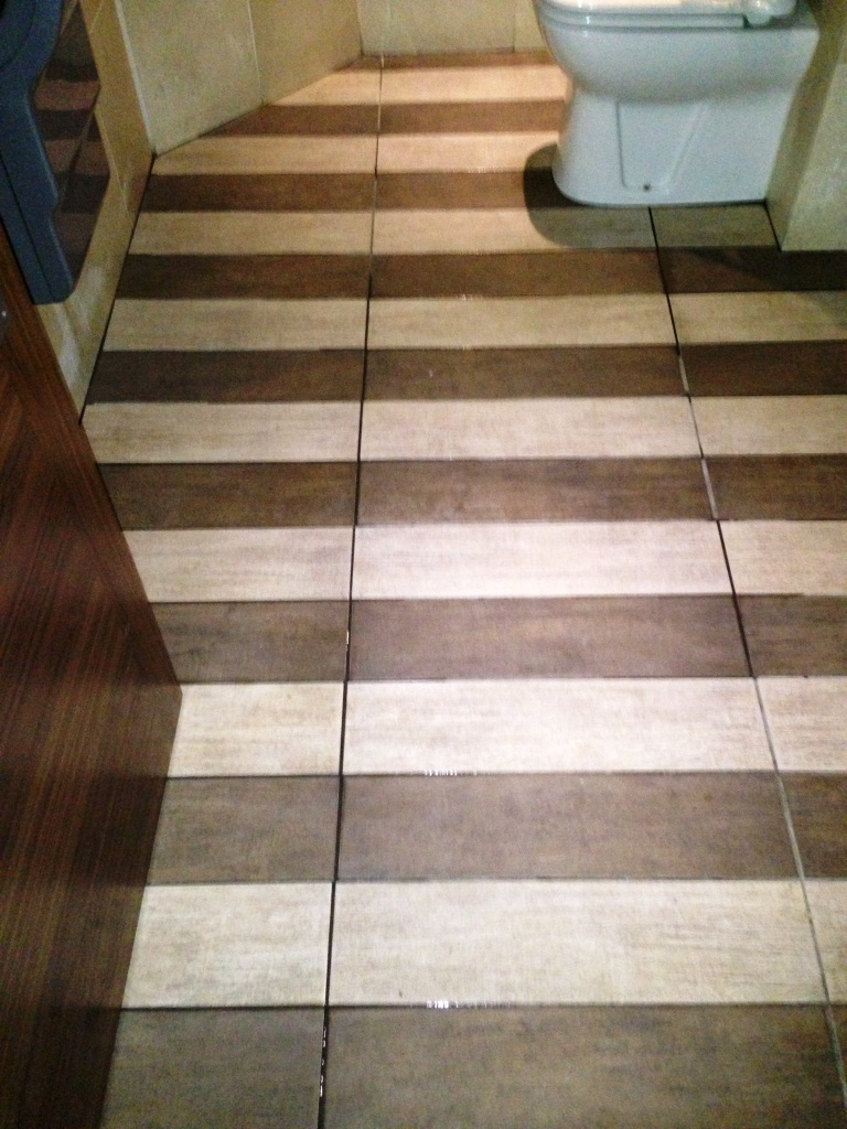 Anti Slip Tiled Hallway After Cleaning