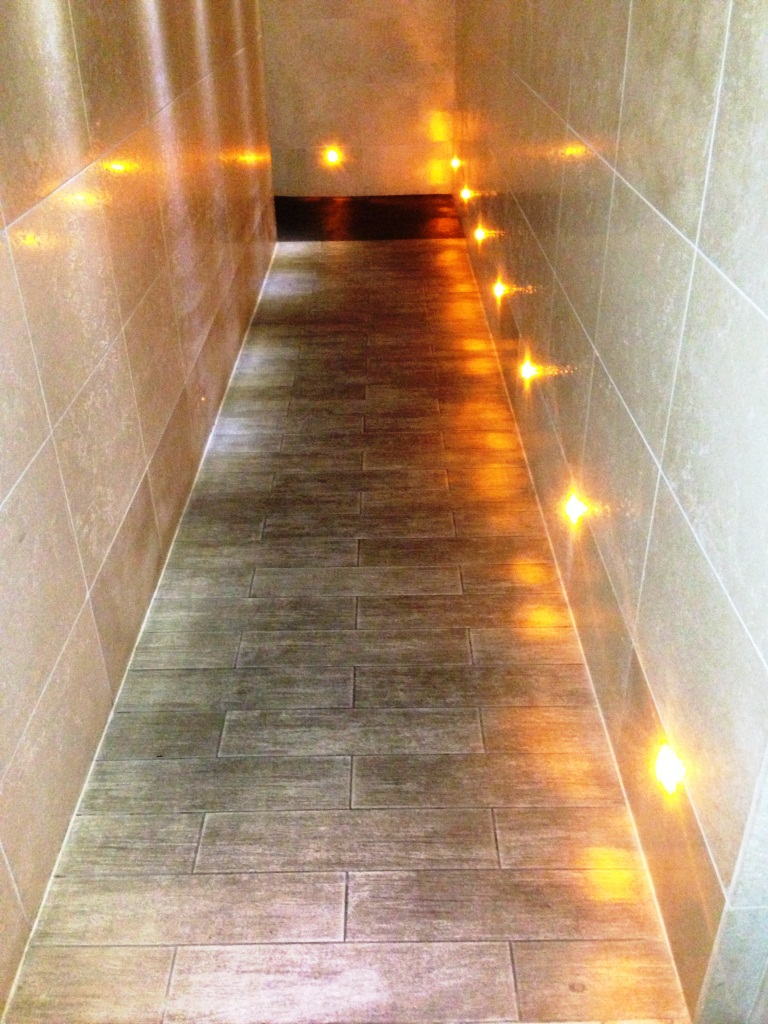 Anti Slip Tiled Hallway Before Cleaning