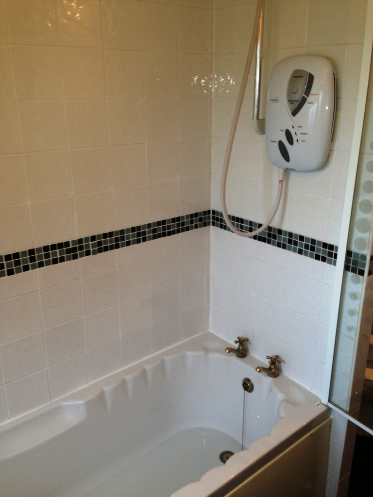 Disbury bathroom tile and grout refresh after