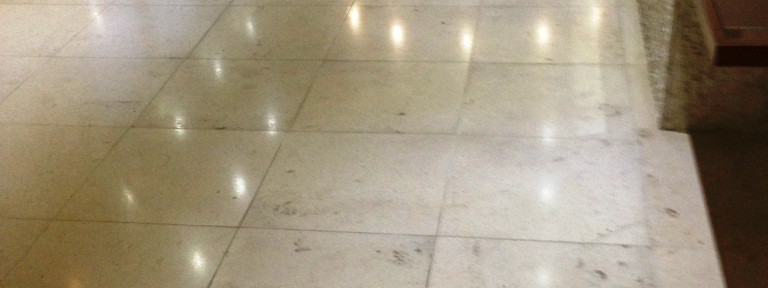 Limestone Tiled Floor Maintained at Manchester Country Club