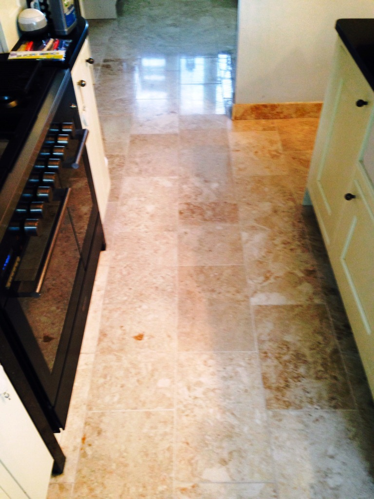Marble Tiled Floor in Disbury Kitchen After