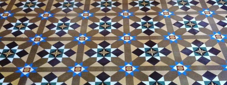 Victorian Tiled Floor Restoration at Buxton Outward Bound Centre