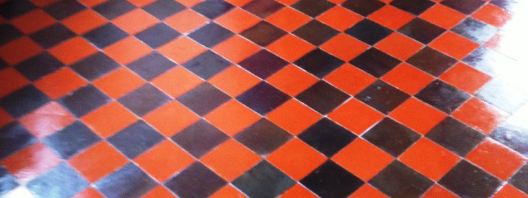 Red and Black Quarry Tiles Restored in Manchester