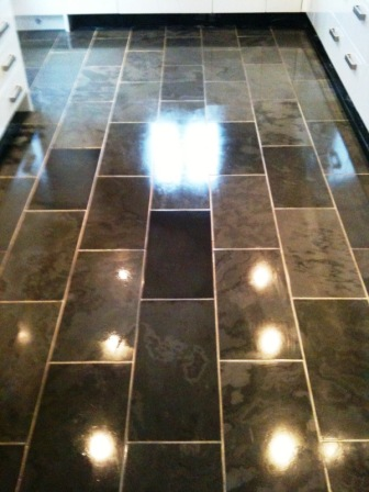 Semi Riven Brazilian Slate tiles after cleaning and sealing