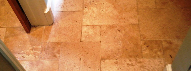 Travertine Tiled Floor Polished in West Didsbury