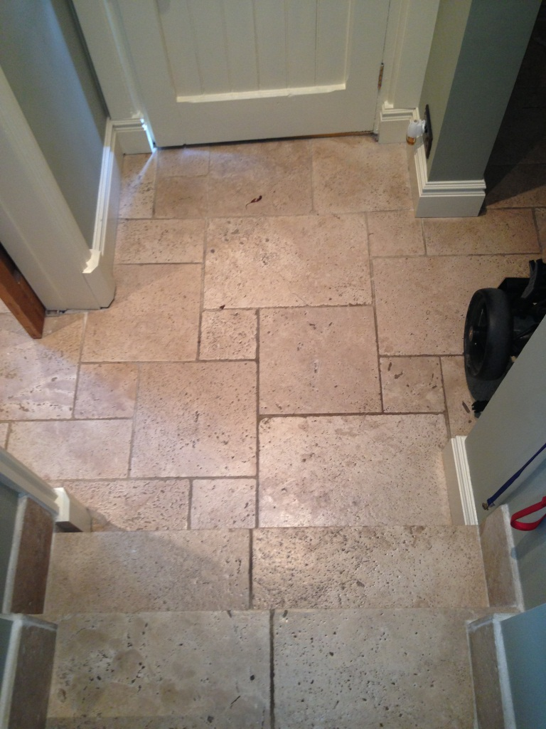 Travertine Floor West Disbury Before