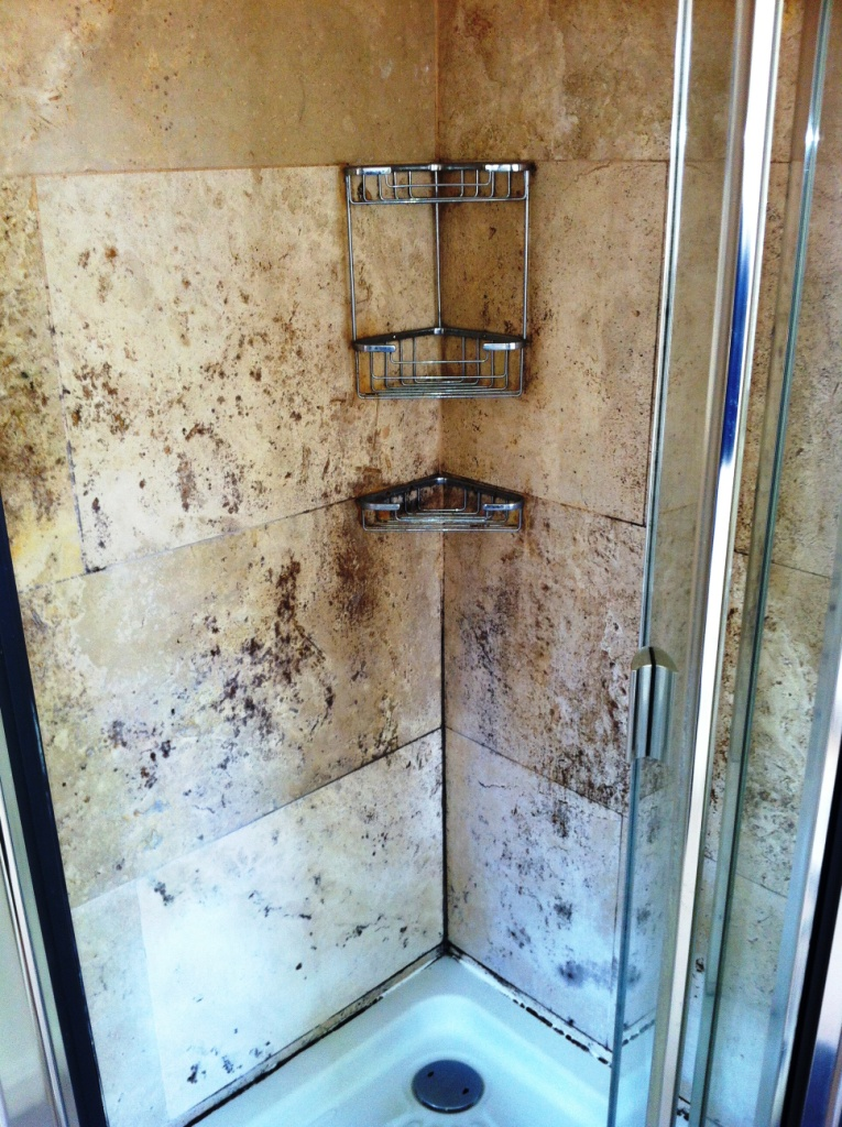 Travertine-shower-tile-before