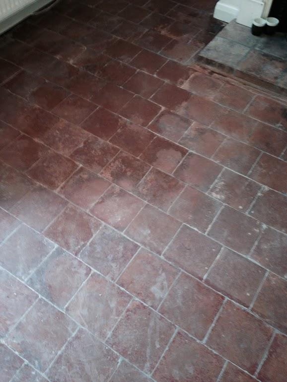 Quarry-Tiled-Floor-in-Long itchington-Before-Cleaning