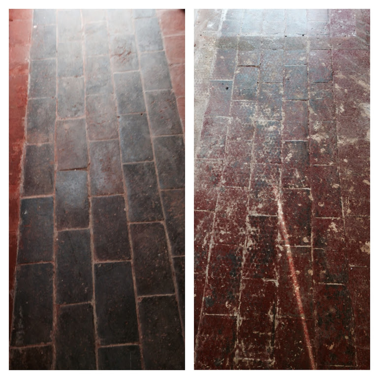 Quarry-Tiled-Floor-in-Long itchington-Before-and-after-Cleaning