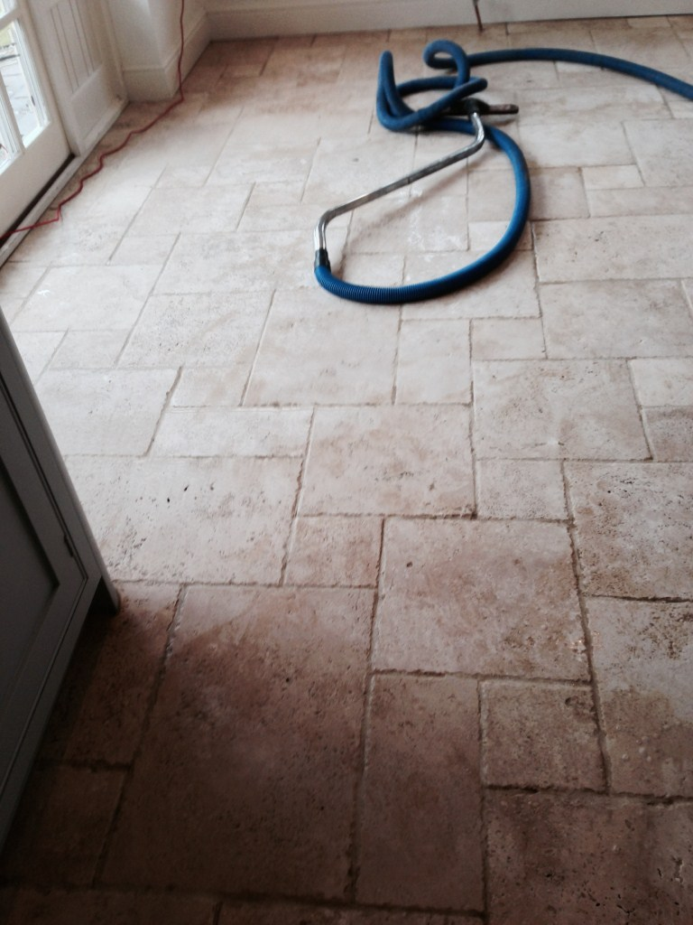 Travertine Stratford upon Avon Before Cleaning