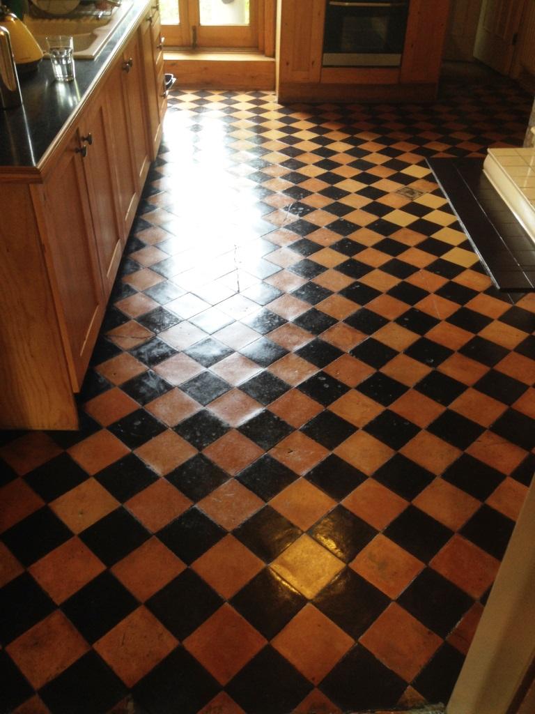 Terracotta floor cleaning Didsbury after