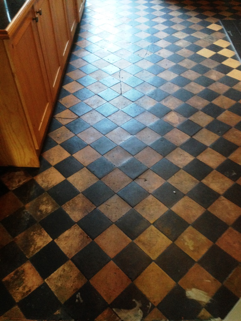 Terracotta floor cleaning Didsbury before