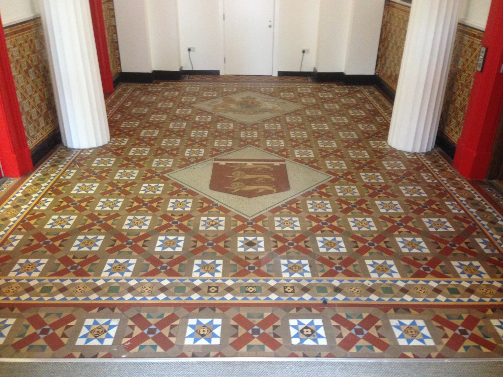 Victorian Tiles at Salford Town hall before