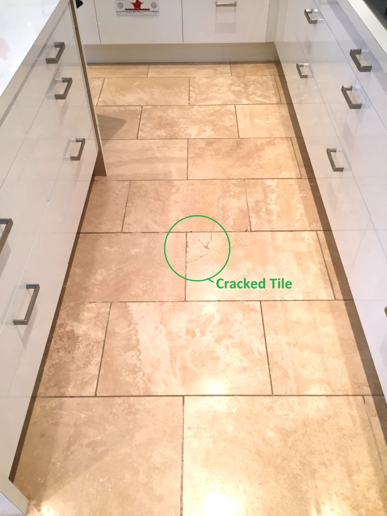 repair kitchen floor repairing cracks in travertine kitchen tiles 1864