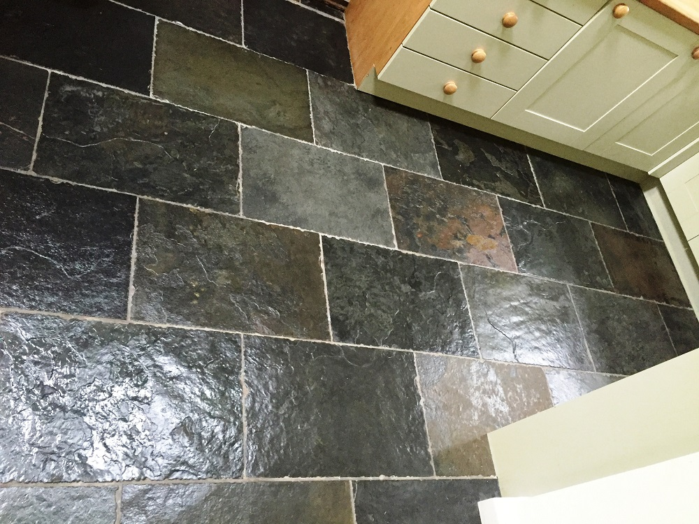Dishevelled Chinese Rough Slate After Restoration Cheadle