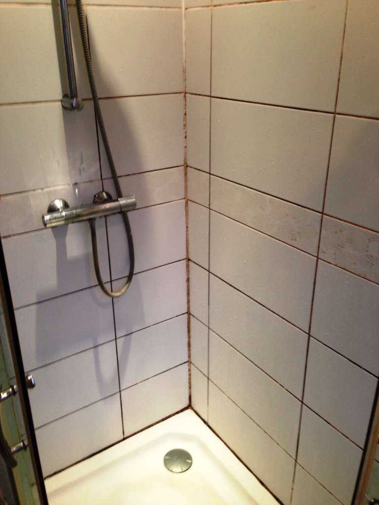 Ceramic Shower Cubicle Before Refresh Wigan