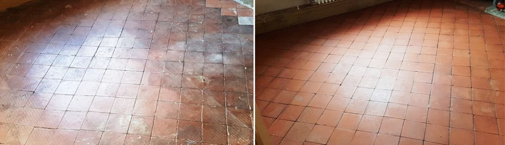 Dirty Quarry Tiled Floor Transformed in Hale