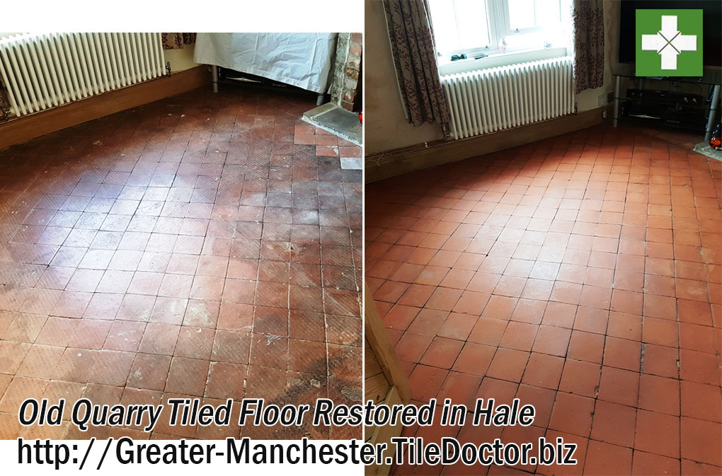 Old Quarry Tiled Floor Restored in Hale