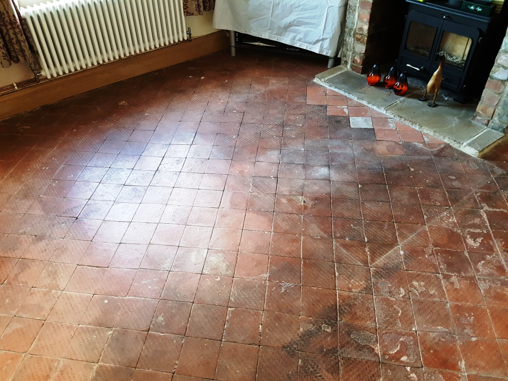 Removing carpet glue from quarry tiles quarry tiled floors quarry tiles in hale before cleaning dailygadgetfo Gallery