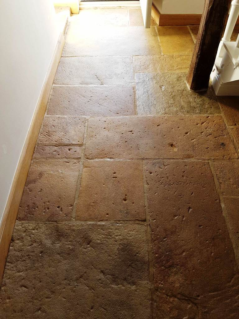 Sandstone Floor After Cleaning and Sealing in Hattersley
