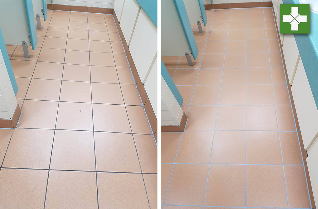 Commercial Grout Restoration Completed in Manchester Offices