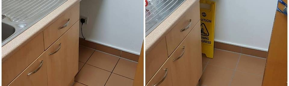 Grout Cleaned and Recoloured in Manchester Office Toilets and Kitchens