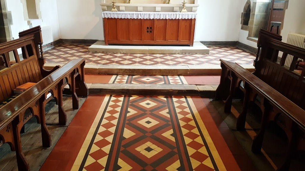 Victorian Floor After Cleaning Rishton Church