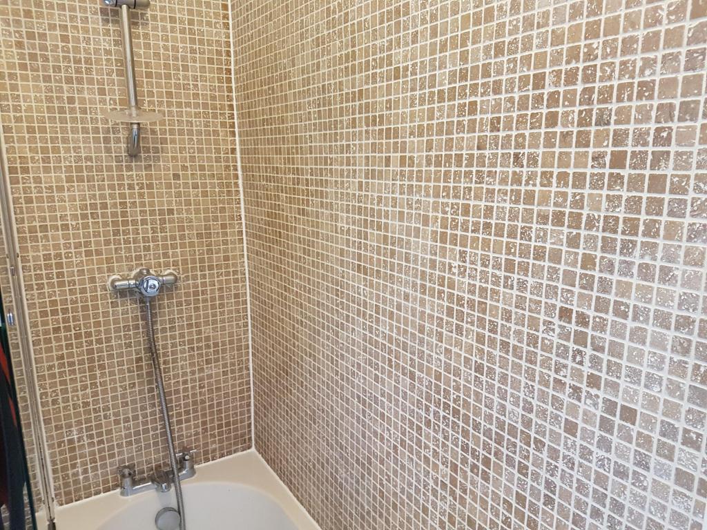 Bath Shower Tile After Refresh Stockport