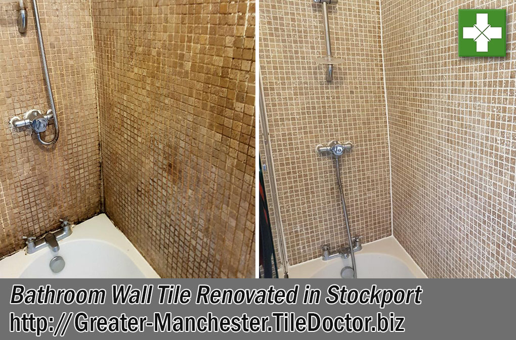 Bathroom Wall Tile Before and After Renovation in Stockport