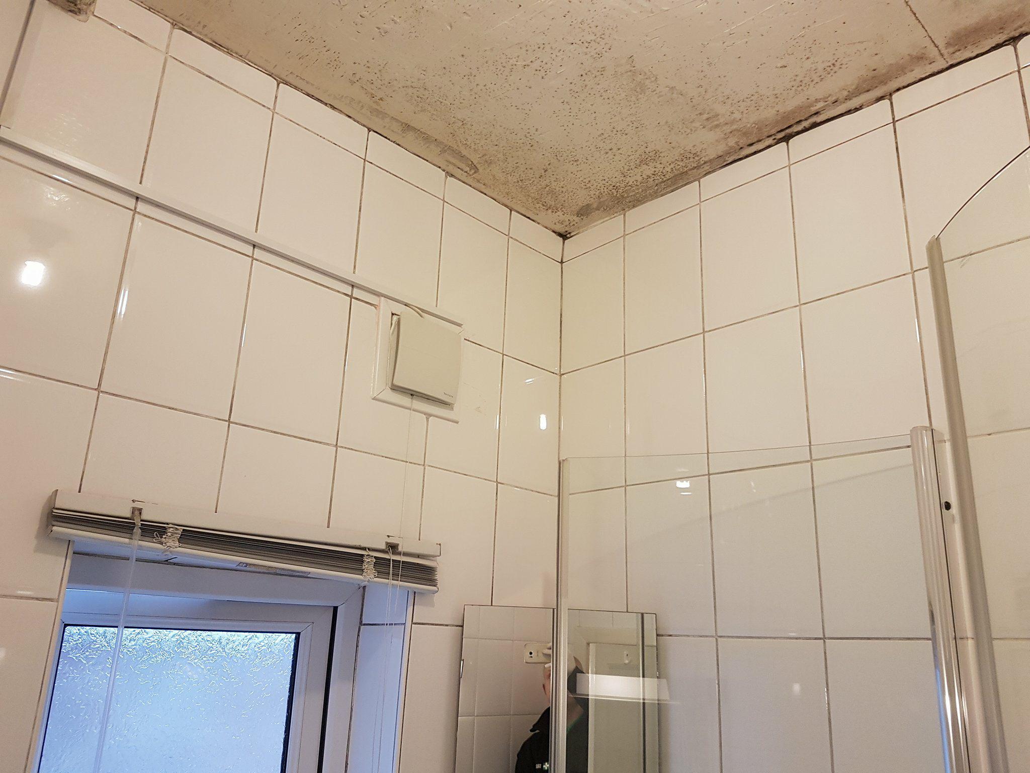 Mouldy Bathroom Before Restoration in Eccles