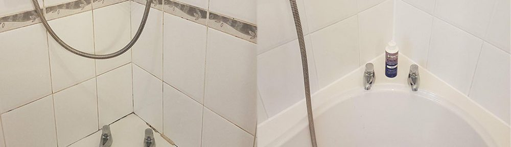 Mouldy Ceramic Tiled Bathroom Restored in Eccles
