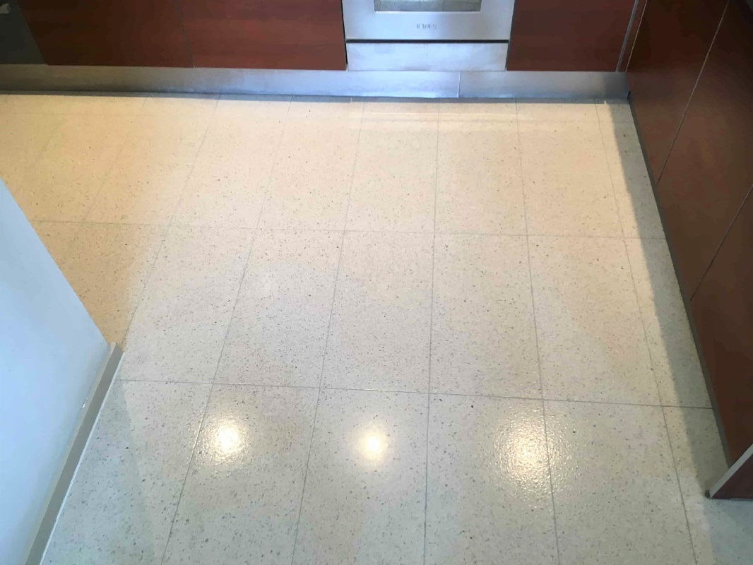 Terrazzo Kitchen Floor After Cleaning Skyline Apartments Manchester