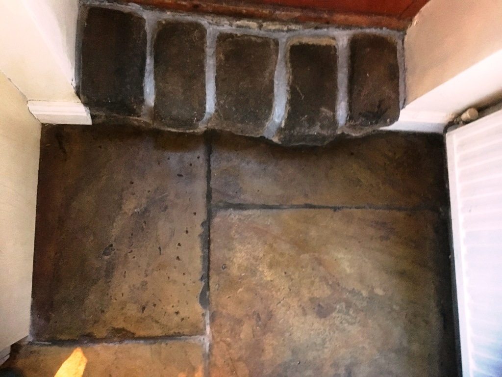 Old Flagstone Floor After Sealing Broadbottom
