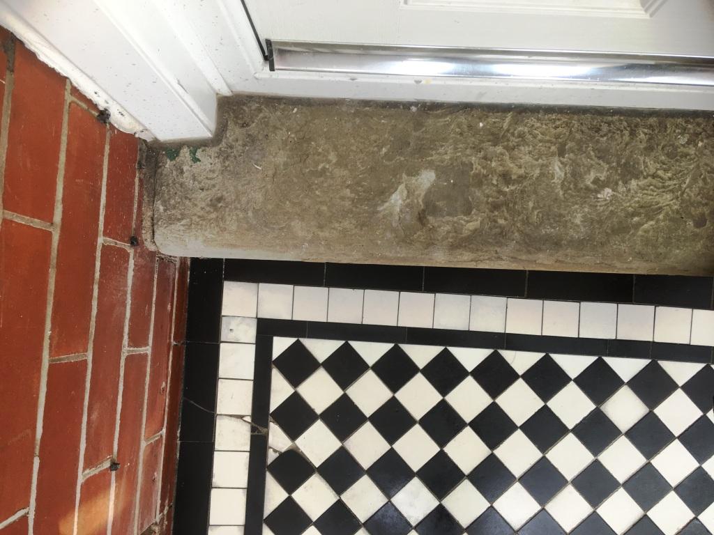 Marble Tiled Victorian Porch After Restoration Oldham