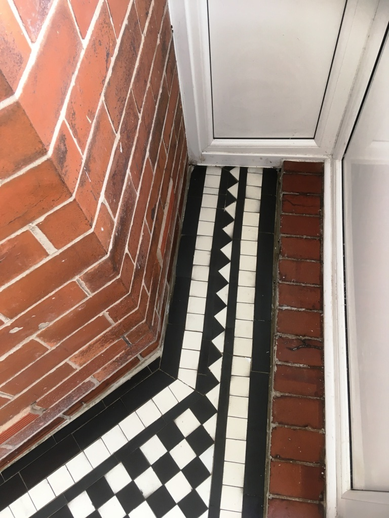 Marble Tiled Victorian Porch After Restoration Oldham