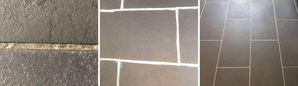 Cleaning a Slate effect Porcelain Tiled floor in Bury