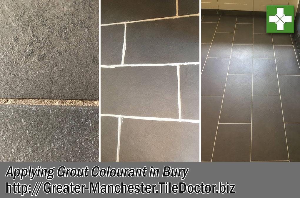 Slate Affect Porcelain Floor Before After Restoration Bury