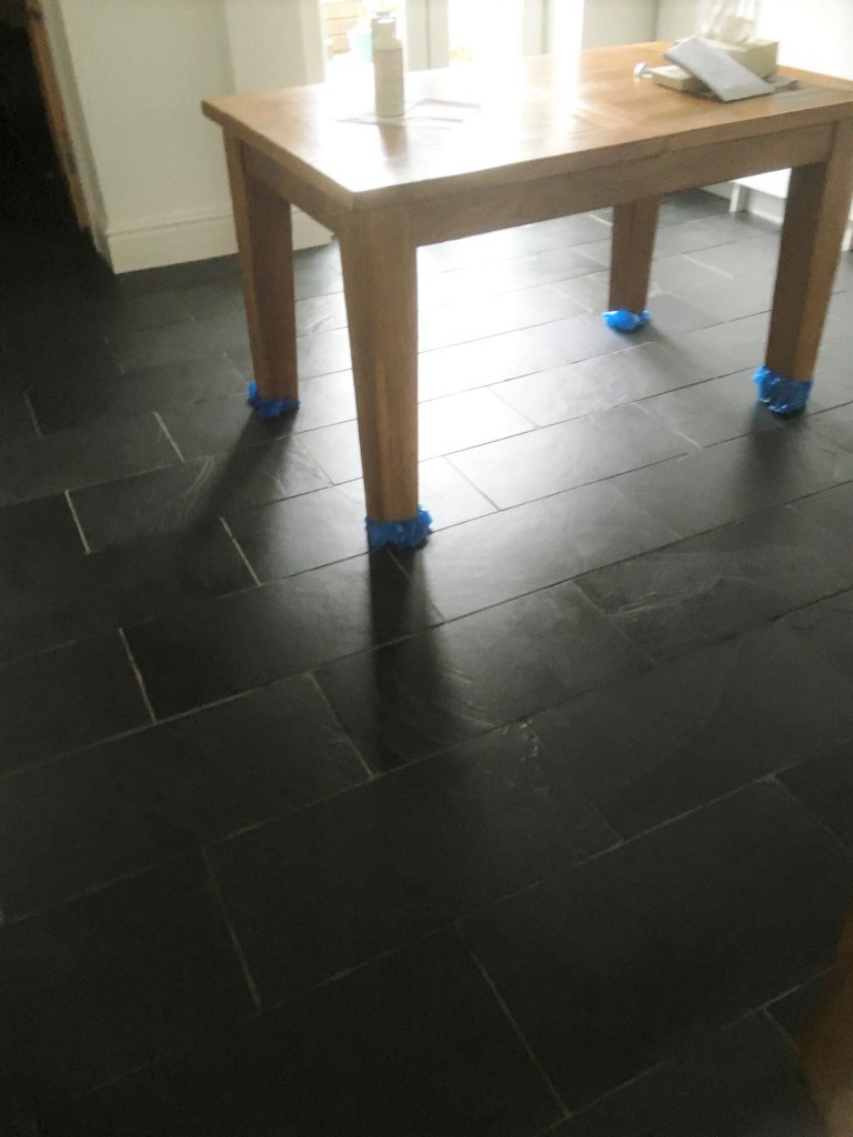 Riven Slate Floor After Sealing Oldham