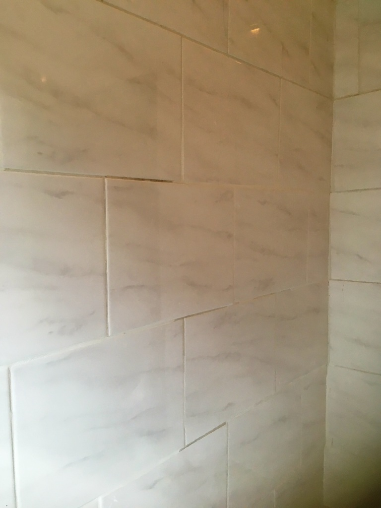 Ceramic Tiled Bathroom Before Renovation Levenshulme