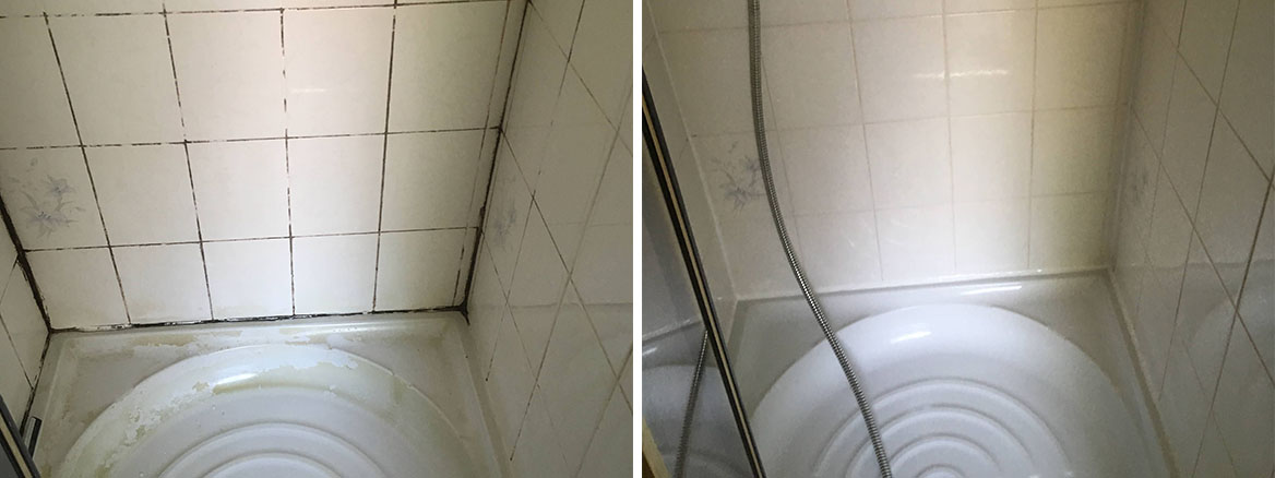 Grubby Shower Cubicle Before After Renovation Chorlton Cum Hardy Rental Property