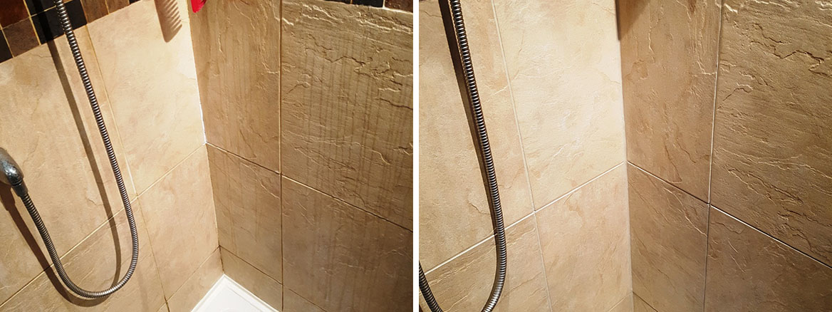 Shower Cubicle Before After Refresh in Dane Bank