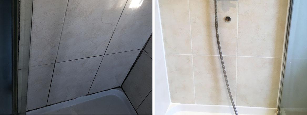 Shower Cubicle Before After Restoration Chorlton